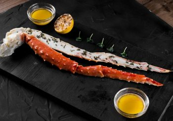 Kamchatka Red King Crab Cooked Leg Shell On frozen